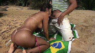 Gotta love the beach in Brazil