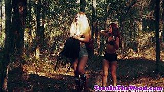 Stranded teen deepthroating stalkers dick