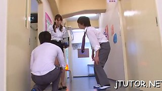 Hot student sucks teacher