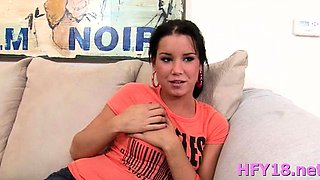 Lewd brunette babe Tanner Mayes craves for extreme fuck