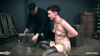Rope bondage is something Kitty Dorian loves and she's a perfect slave