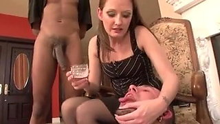 women feeds black guy cum to white boyfriend