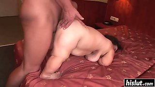 chubby midget gets her hairy cunt drilled