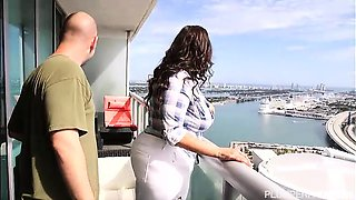 Lusty Latina Sofia Rose Fucks on Miami Balcony