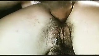 Marvelous brunette hottie with hairy holes loves anal sex