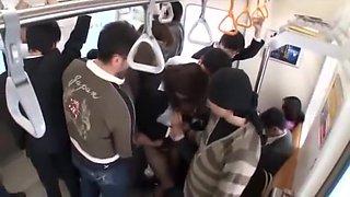 Fabulous Japanese chick Azusa Maki, Mirei Shiratori, Miharu Izawa in Crazy Public, Fingering JAV clip
