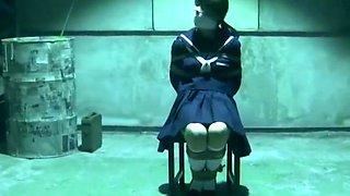 Japanese School Girl in Bondage Basement