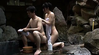 Delightful Japanese ladies enjoy group sex in the outdoors