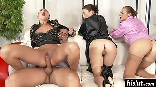 candy and tiffany enjoy a foursome