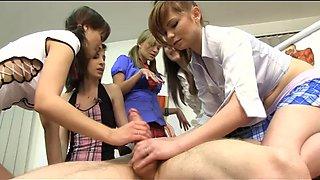anatomy teacher accepts his CFNM punishment