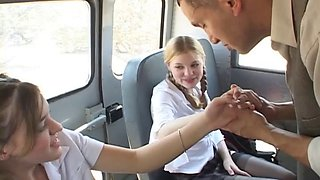 Teens bang teacher on school bus