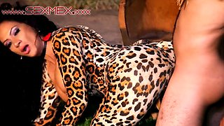Sexy Cougar cosplay Banged Outdoor 54