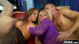 hot babes enjoy big pulsating schlong