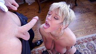Dee Williams and Aspen Ora share a dick in bondage