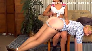 Miss Cassie spanked by other daughter