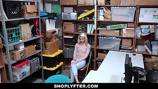 Shoplyfter- Shy Perky Blonde Takes Huge Load After Stealing