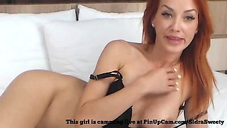 Pretty Red Head Smoking On Cam....