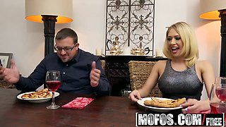 Mofos - Pornstar Vote - Housewife Fucks on Kitchen Floor starring Kagney Linn Karter
