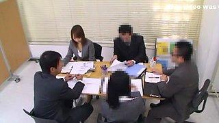 Hottest Japanese model in Horny Handjobs, Secretary JAV clip
