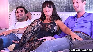 Catalina Cruz gets 2 pieces of meat to play wit