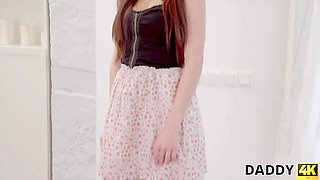 DADDY4K. Beautiful girl cheats on her boyfriend with his nice daddy