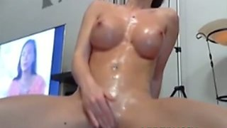 Grease Her Up And Make Her Bounce On Hard VIBEPUSSY Toy Til Orgasm
