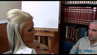 Blonde Slut at work