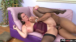 Secretary for a lesbian Carrie Moon, doesnt seem to get her boss understand her love for cock