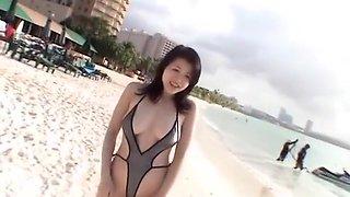 Amazing Japanese slut Shinobu Ebihara in Best Bikini JAV movie