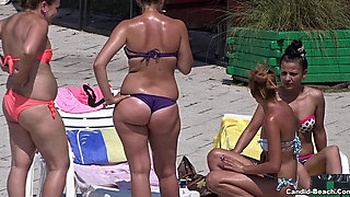 Sexy Bikini Cameltoe Girls at The Pool Voyeur HD Video