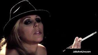 MILF Star, Julia Ann Gives A Smokin BJ & Fucks Guy On Stage!