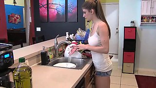 Kitchen Sister Handjob