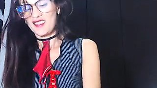 Flexible Brunette Brings Out Her Favorite Anal Toys