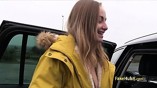 Czech slut fucked in car outdoors