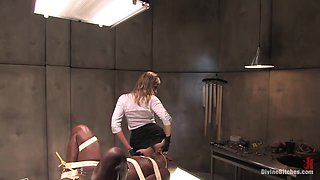 Jack Hammer & Maitresse Madeline Marlowe & Bella Rossi & Madison Young in Sperm Extraction - DivineBitches