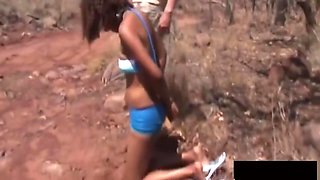 African Bitch Enjoys Being Tied