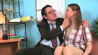 Mature teacher is getting his hard male jock delighted