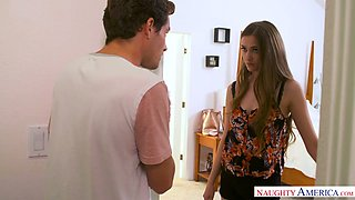 Always sex hungry step sister Samantha Hayes gets intimate with her stepbrother