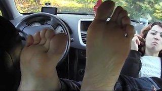 Turkish girl foot fetish meeting in car feet licking
