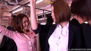 Risa Kasumi gets her cunt fucked in the missionary pose in public