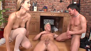 Ravishing pornstars have a vibrant dude bang them hardcore till they orgasm