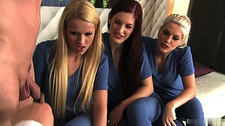 Sexy nurses have group anal with doctors