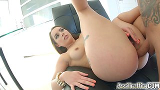 Ass Traffic Jenny glam gets her ass drilled