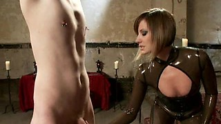 Horny Master Babe Visits the Dungeon for Some Playtime