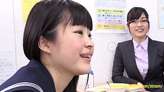 Jav Schoolgirl Sucks And Fuck The Glory Hole Cute Teen Rides Whilst Her Pals Watch In The Classroom
