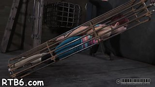 restrained beauty is punished bdsm film 2