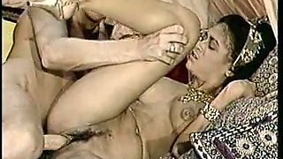 Vintage porn compilation with seductive brunette and threesome action