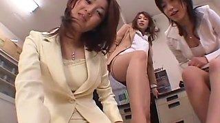 Best Japanese model Airi Nakashima, Megu Shirosaki, Hina Otsuka in Hottest Foot Job/Ashifechi, POV JAV clip