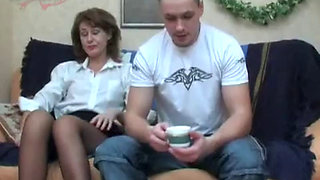 Sleeping Drunk Stepmom Exploited