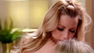 Excited Lesbian Couple Lexi Belle and Ginger Banks saying yes to Everything not just marriage